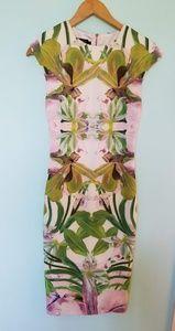 Ted Baker Safiya Jungle Orchid Midi Dress sz 1
